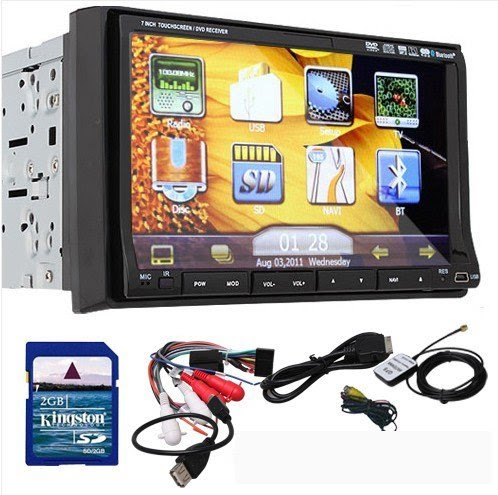 ouku ouku 7 inch double din in dash touchscreen lcd monitor ouku ouku 7 inch double din in dash touchscreen lcd monitor dvd cd mp3 mp4 usb sd amfm rds bluetooth and gps navigation 3d pip pictire in picture