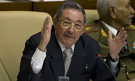 The new Cuban president Raul Castro at Cuba's National Assembly election session in Havana