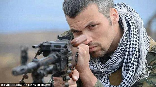Battle: Jordan Matson, a former soldier for the US Army, is another American serving in the fight against ISIS