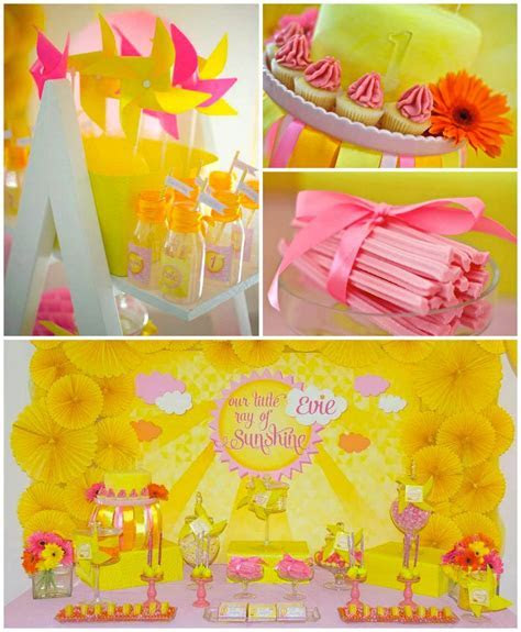 Kara's Party Ideas Little Ray Of Sunshine First Birthday