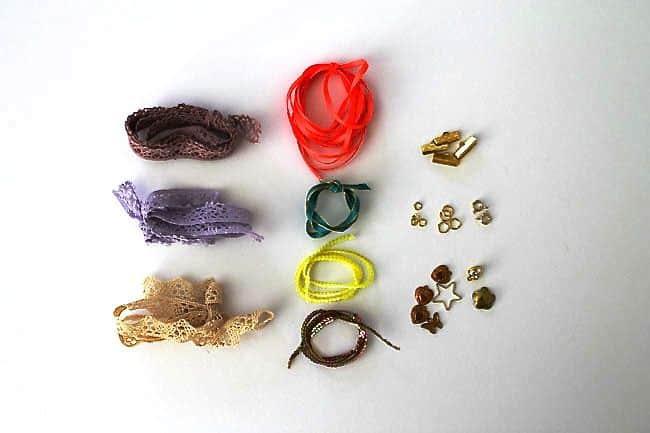 Lace-charm-bracelet-materials