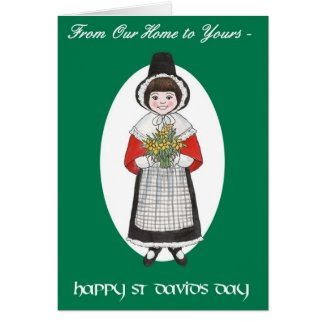 St David's Day, Welsh Costume, Our Home to Yours Cards