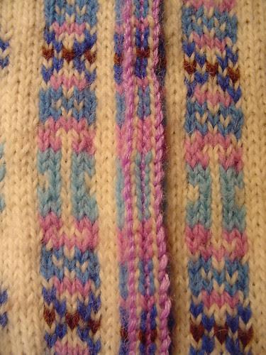 VS, 5/31/06, crocheted armhole steek