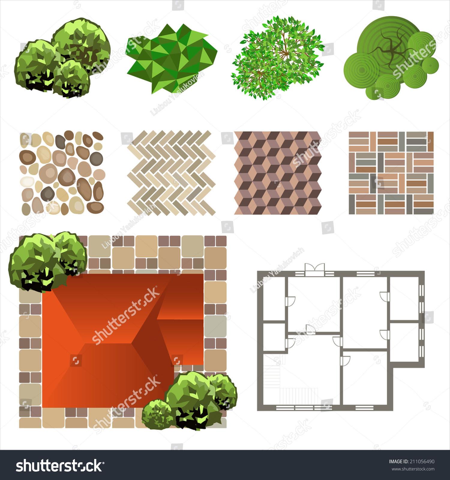 Detailed Landscape Design Elements Make Your Stock Vector