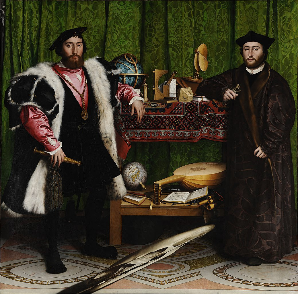 Anamorphosis. Hans Holbein the Younger The Ambassadors