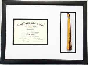 High School Graduation Certificate Document 6x8 With Tassel Opening