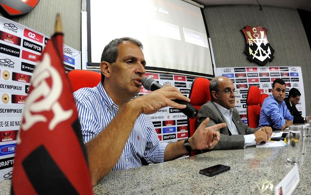 coletiva diretoria Flamengo (Foto: Alexandre Vidal / Fla Imagem)