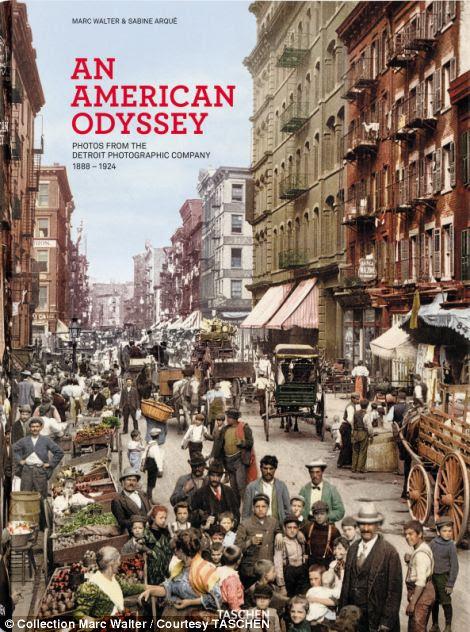 O livro de capa dura 612 páginas, publicado pela Taschen, é uma celebração da América e é considerado uma viagem através de sua 19 ª mais tarde e paisagens início do século 20