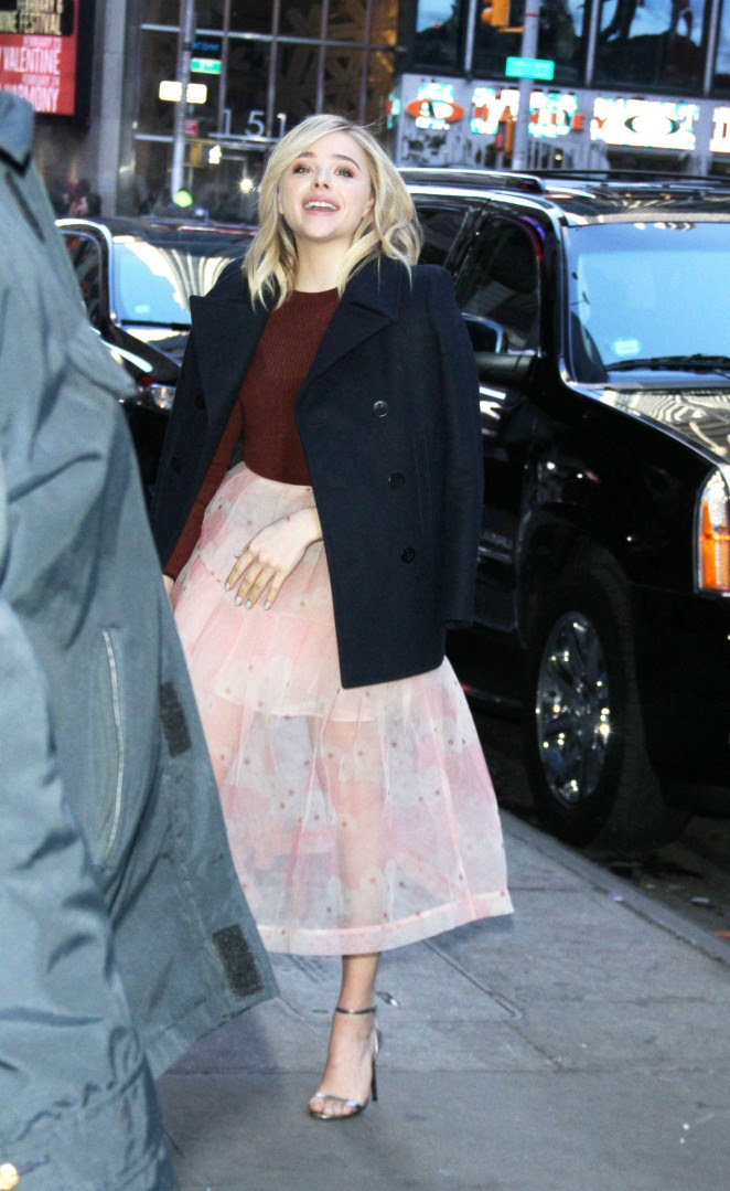 Chloe Moretz: Arriving for Good Morning America -02
