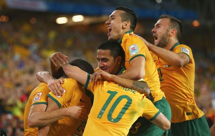 Coreia x Australia - comemoração gol Austrália (Foto: Getty)