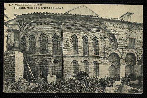 Mezquita del Cristo de la Luz (Toledo), a principios de siglo. Foto Hauser y Menet 1905