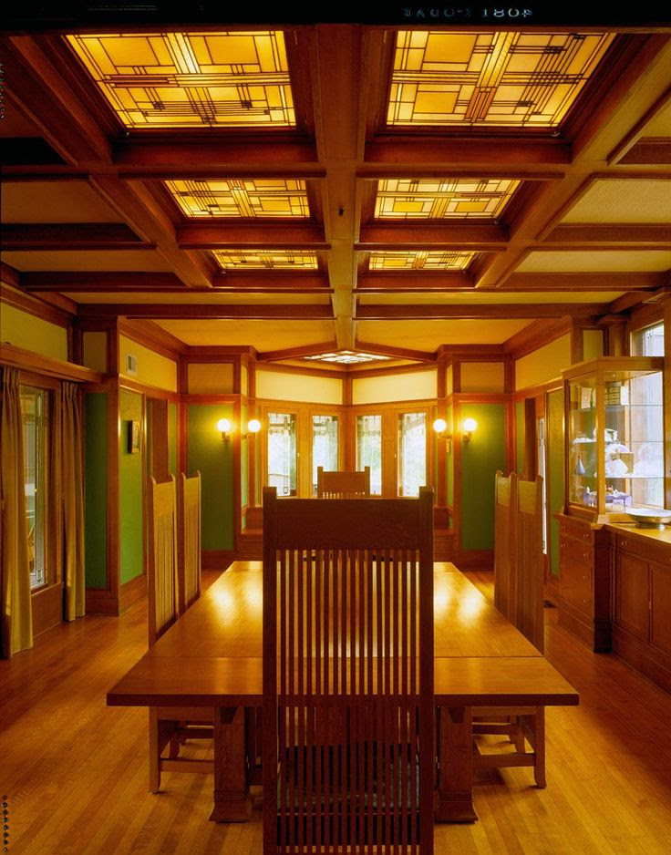 Frank Lloyd Wrights Willits Home Dining Room