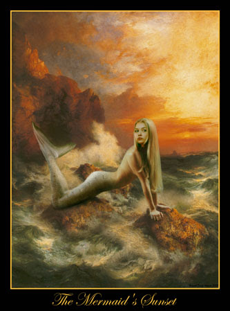 sunset mermaid Graphics Myspace