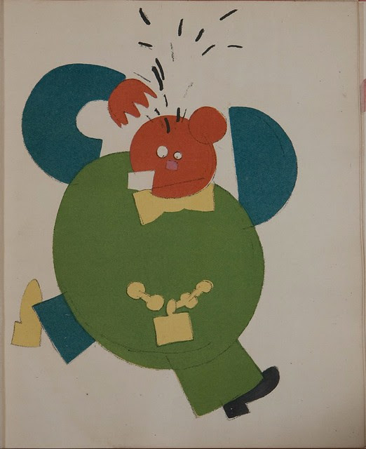 Russian placards, 1917-1922 (Vladimir Lebedev) - A bourgeois tearing his hair...(..)