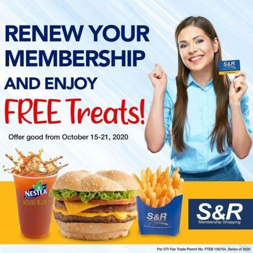 Renew your S&R membership and get FREE treats
