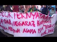 [VIDEO] Aksi Demonstrasi HMI Menolak Pernyataan Agama Islam Adalah Teroris