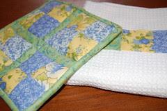 Patchwork Potholder and Towel