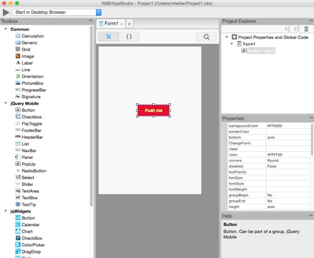 NSB/AppStudio form designer