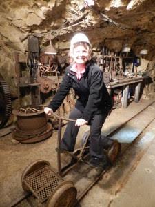 inside a gold mine
