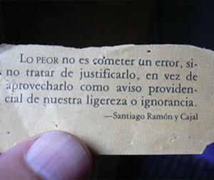 Frase de Santiago Ramón y Cajal
