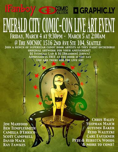 LIVE ART @ EMERALD CITY COMIC CON