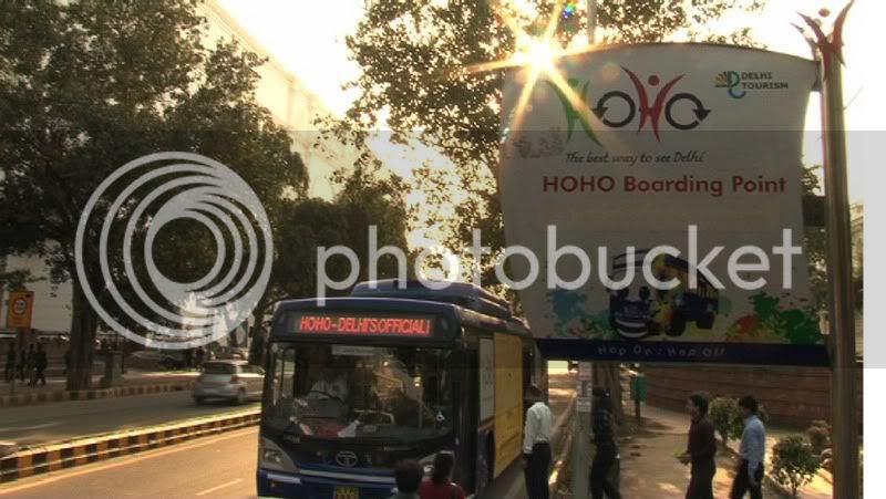 HOHO Delhi  Bus stop signage