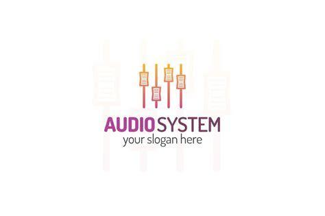 Audio system logo ~ Logo Templates ~ Creative Market