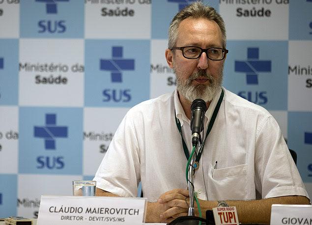 Cláudio Maierovitch, do Ministério da Saúde, em Brasília