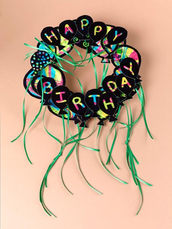Happy Birthday Wreath Craft | crayola.com