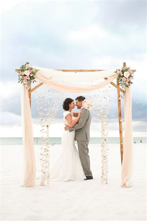 Bride and Groom Clearwater Beach Wedding Ceremony with