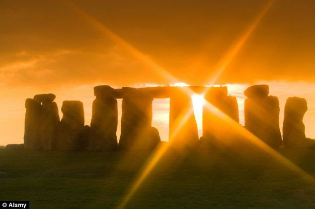 Shining through: The researchers said that as some stones in the monument have more natural, less neat outlines,