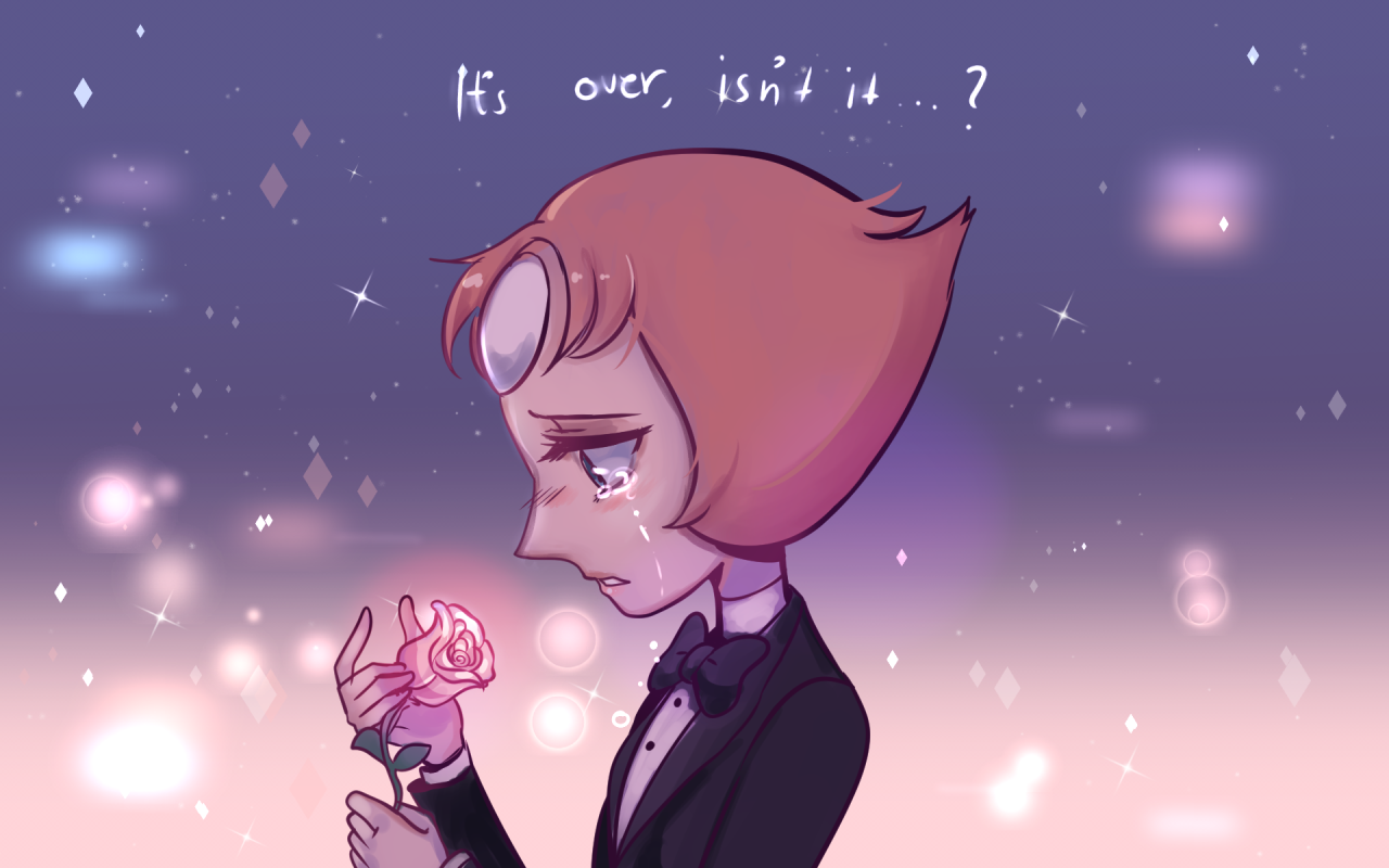 """""""It's over,isn't it?"""" So much feels Q u Q I drew this since I couldn't resist drawing Pearl and the pretty background xD"""