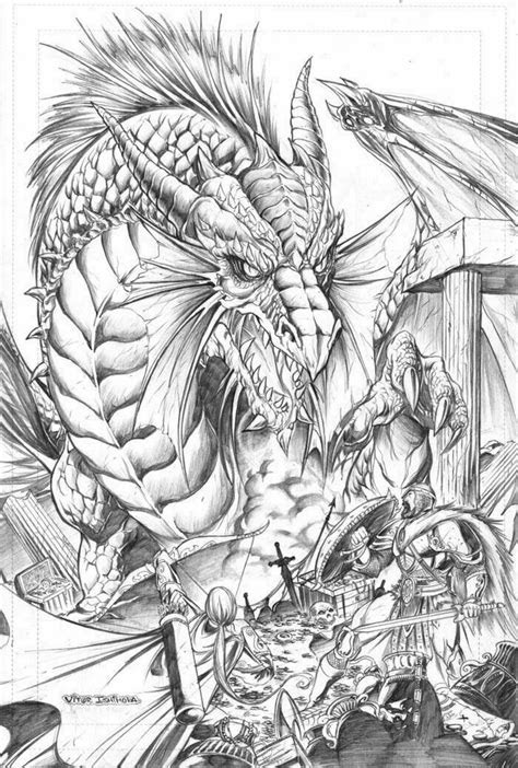 draw  realistic dragon part  includes