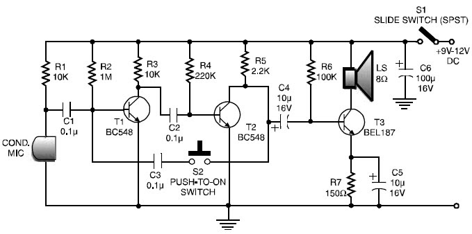 grozzart  simple walkie talkie circuit diagram pdf