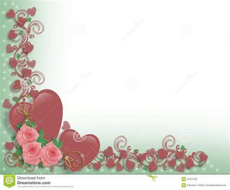 Valentine Or Wedding Hearts Border Royalty Free Stock