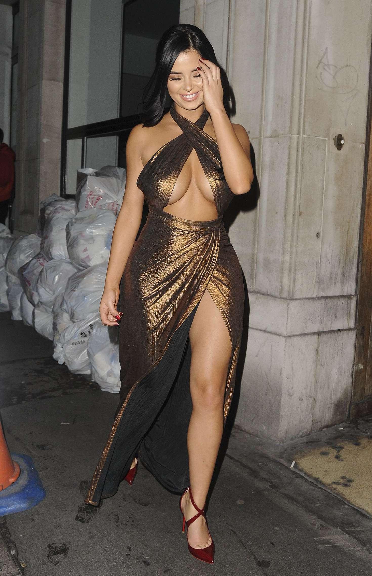 Demi Rose – Leaving House of CB Christmas Dinner in London