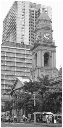 Post Office Clock Tower in Durban. South Africa's architecture reflects the influence of Dutch and British colonists.