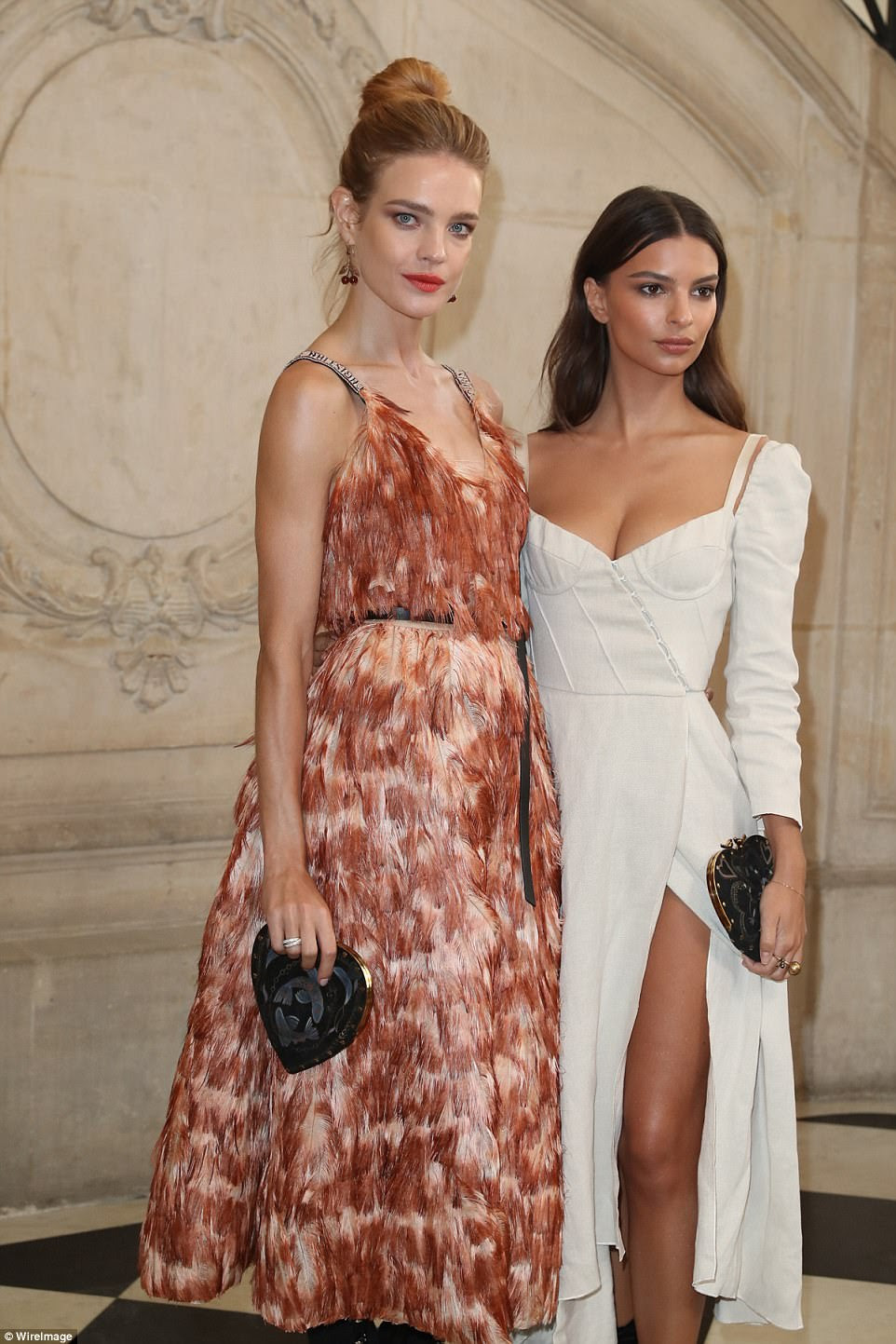 Chic,The star, who burst onto the scene when she appeared nude in Robin Thicke's Blurred Lines music video in 2013, smouldered as she posed alongside fellow model, Russian beauty Natalia Vodianova