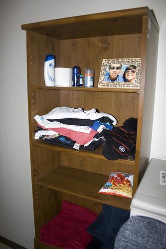 my bookshelf/wardrobe