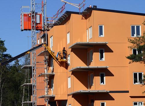 It's a crane at a building site