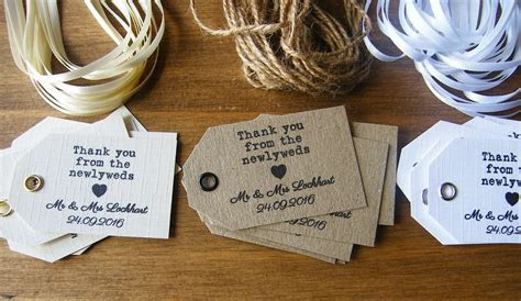 Personalised Wedding Newlywed Thank You Favour Tags