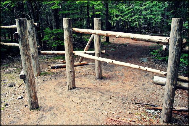Horse Gate on the Ramona Falls Trail - Mt. Hood