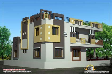 duplex house plan  elevation  sq ft kerala