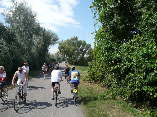 Cyclists on the bike trail