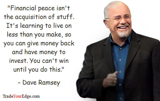 Trading Quotes 24 Dave Ramsey Trade Your Edge