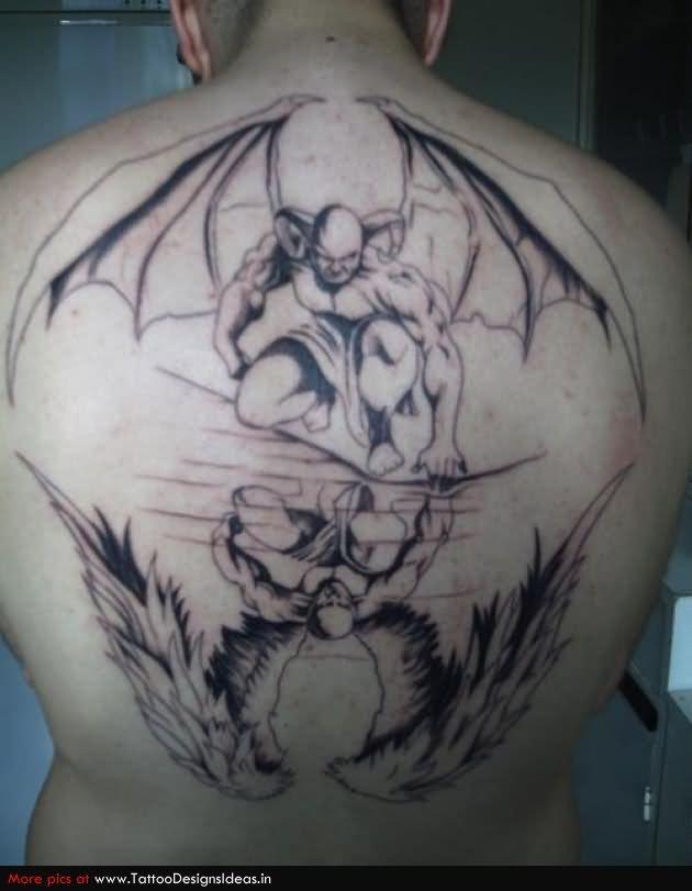 Biomechanical Evil Demon Skull Tattoo