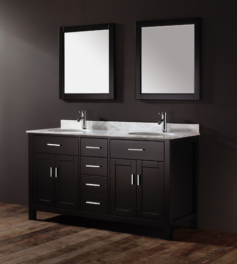 Double Bathroom Vanities - traditional - bathroom vanities and ...