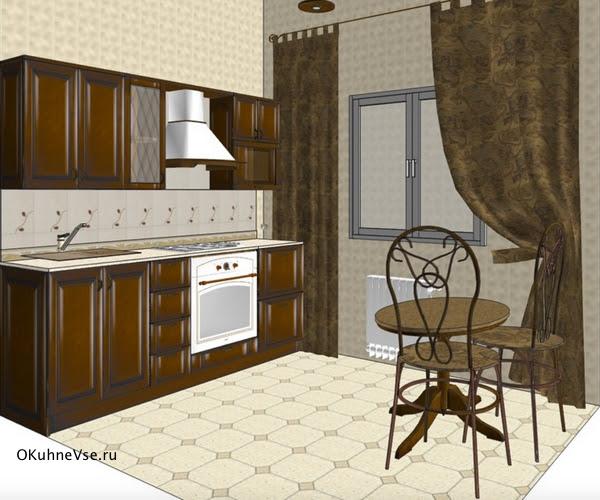 маленькая прямая кухня 2,3 - 2,5 метра
