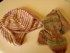 Baby fishtail scarf and sweet baby cap