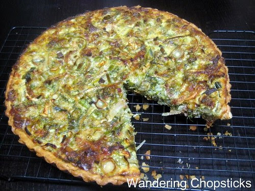 Quiche with Bacon, Fennel, Leeks, and Onions 5